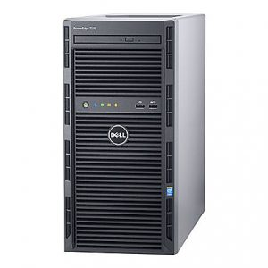 Dell PowerEdge T130 Mini-tower Server - 1 x Intel Xeon E3-1240 v5 Quad-core (4 Core) 3.50 GHz - 8 GB Installed DDR4 SDRAM - 1 TB (1 x 1 TB) Serial ATA/600 HDD - 12Gb/s SAS, Serial ATA/600 Controller - 0, 1, 5, 10, 50 RAID Levels - 290 W - 1 Processor Support - 64 GB RAM Support - Gigabit Ethernet - DVD-Reader H330 4LFF CABLED 1X1TB 1YR NBD