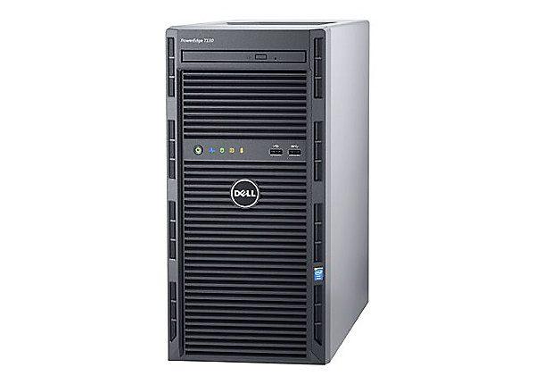 Dell PowerEdge T130 Mini-tower Server - 1 x Intel Xeon E3-1240 v5 Quad-core (4 Core) 3.50 GHz - 8 GB Installed DDR4 SDRAM - 1 TB (1 x 1 TB) Serial ATA/600 HDD - 12Gb/s SAS, Serial ATA/600 Controller - 0, 1, 5, 10, 50 RAID Levels - 290 W - 1 Processor Support - 64 GB RAM Support - Gigabit Ethernet - DVD-Reader H330 4LFF CABLED 1X1TB 1YR NBD