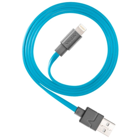 Ventev Sync/Charge Cable Apple 9-Pin Lightning - Blue