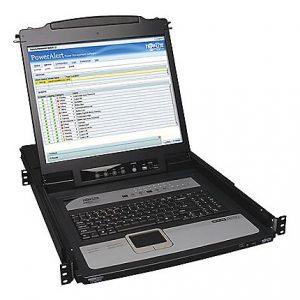 16Port Rack Console IP KVM 19in LCD 1U