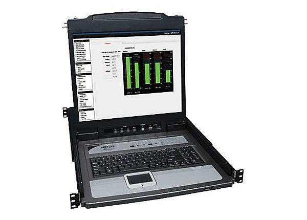 16-Port Rack Console KVM Switch 19in LCD