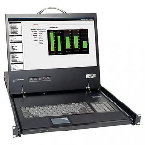 1U Rack Console KVM Switch w/ 19in LCD