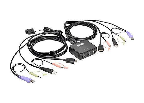2-Port KVM Switch W/ HDMI UUSB Audio