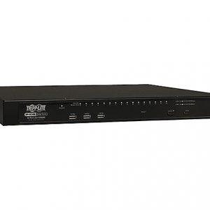 16-Port Cat5 IP KVM Switch 2+1 User 1URM