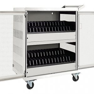32 Port AC Charging Cart White