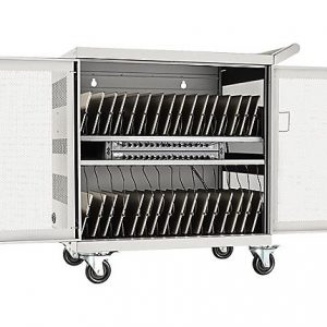 32-PORT USB CHARGING CART STATION WHITE