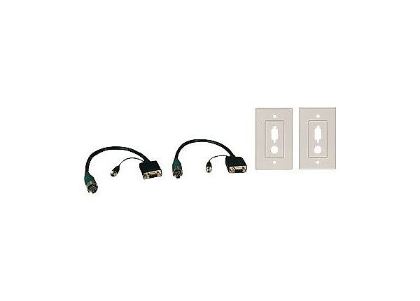VGA Easy Pull Type-A Audio/Faceplate F/F