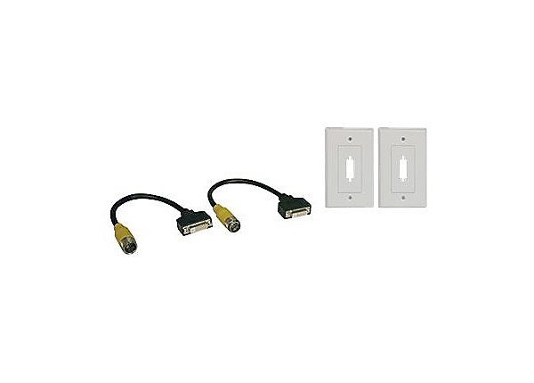DVI Easy Pull Single Link Faceplates F/F