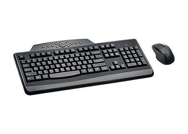 Kensington Pro Fit Wireless Media Desktop Set - keyboard and mouse set