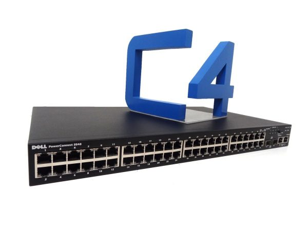 Dell PowerConnect 3548 Ethernet Switch - 48 Network, 2 Expansion Slot - Manageable - Twisted Pair, Optical Fiber - Modular - 2 Layer Supported - 1U High - Rack-mountable