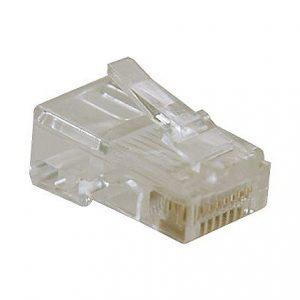 10pk Solid 4-Pair Cat5e Cable RJ45 Plugs