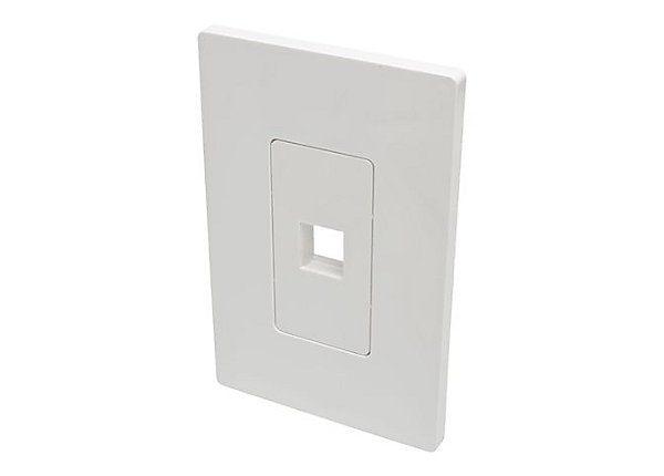 1-Port Single-Gang Keystone Wallplate