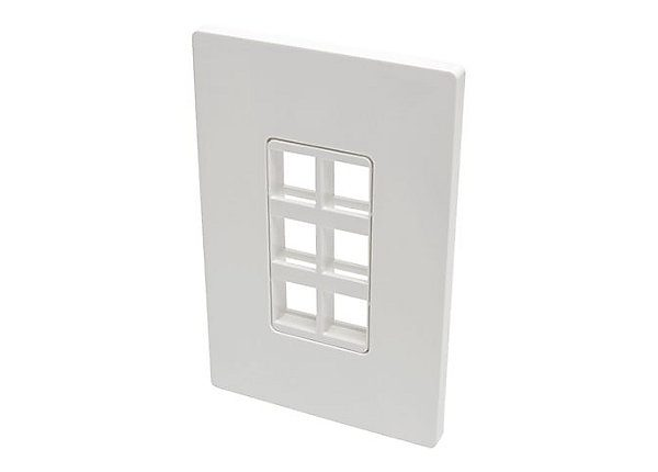 6-Port Single-Gang Keystone Wallplate