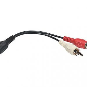 6in Mini Stereo to 2-RCA Cable 3.5mm F/M
