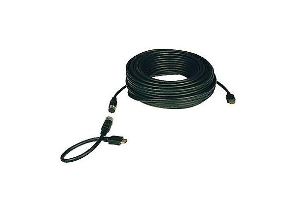 25ft Easy Pull HDMI Cable A/V Black M/M