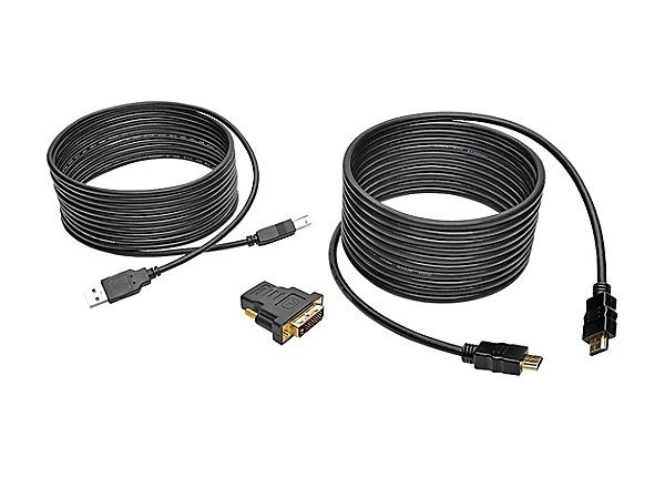 15FT HDMI DVI USB KVM CABLE KIT USB A/B