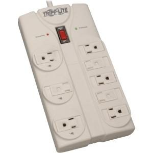 Tripp Lite Surge Protector 120V 5-15R 8 Outlet 8' Cord 1440 Joule - 8 x NEMA 5-15R - 1800 VA - 1440 J - 120 V AC Input - 120 V AC Output 1140 JOULES 5-15P 5-15R LEDS