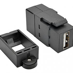 USB Panel Mount Coupler USB 2.0-A F/F