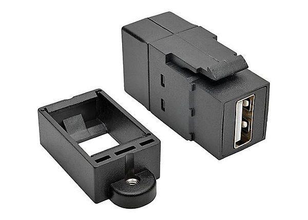 USB Panel Mount Coupler USB 2.0-A F/F