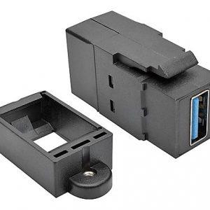 USB Panel Mount/Keystone Coupler F/F