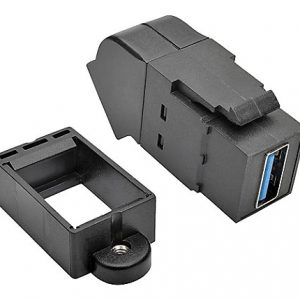 USB Panel Mount Angled Coupler F/F