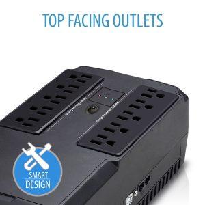 V7 Ups 550VA DESKTOP UPS 10 OUT 5 UPS+5 SURGE 120VAC USB RJ45