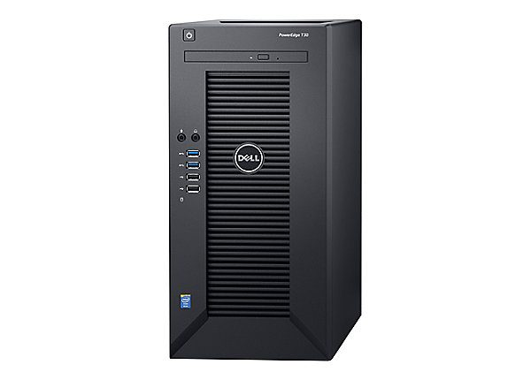 Dell PowerEdge T30 Mini-tower Server - 1 x Intel Pentium G4400 Dual-core (2 Core) 3.30 GHz - 4 GB Installed DDR4 SDRAM - 1 TB (1 x 1 TB) Serial ATA/600 HDD - Serial ATA/600 Controller - 290 W - 1 Processor Support - 64 GB RAM Support - Gigabit Ethernet 1X4GB-U 4LFF-CABLED 1X1TB 7200 RPM