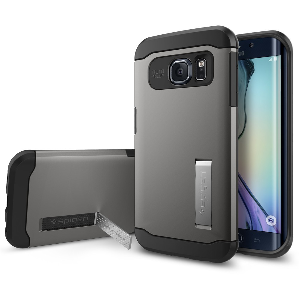 buy popular 072b3 9a917 Spigen Slim Armor Case Galaxy S6 Edge - Metal Slate